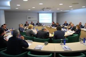 Reunión de los miembros del Patronato de ADEIT en el Hemiciclo